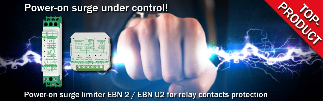 Power-on surge limiter EBN 2 / EBN U2